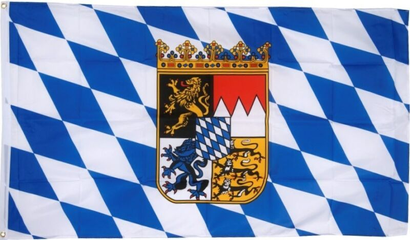 BAVARIA CREST LION OKTOBERFEST BAVARIAN GERMAN FLAG 3x5 better quality us seller