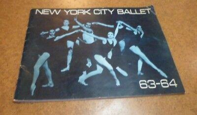 Signed New York City Ballet Program 1963-64