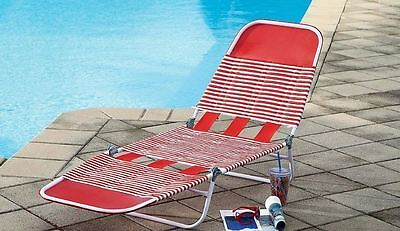 Lovely Essential Garden Chaise Folding Lounge Chair Patio Camping Sun Beach Pool