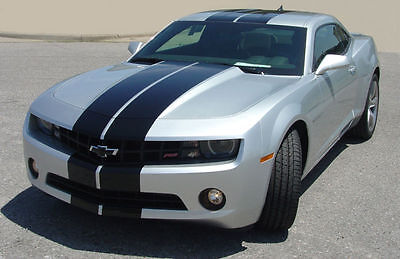 "11 2012 2013 2014 15 2016 Camaro 10"" Plain Rally Stripe Set Stripes Decal Decals"