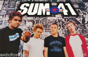 POSTER - MUSIC - SUM 41 - GROUP POSE -  FREE SHIPPING ! #6556  LBW1 V