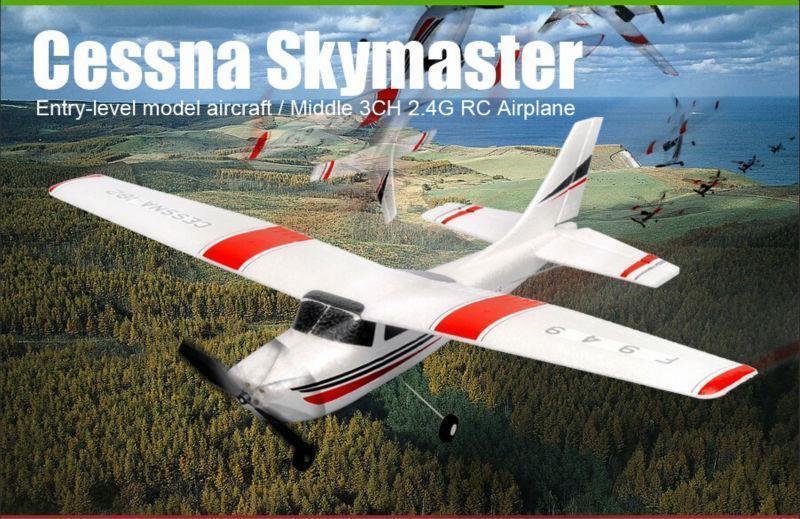 WLtoys F949 3CH 2.4G Cessna 182 Micro RC Airplane RTF - Left Hand Throttle