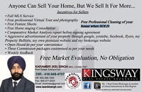Sell home at 1%* Commission and at top dollars with TeamKBSingh