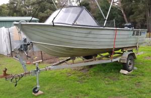 14 ft. Aluminium boat, Savage.