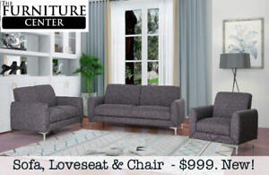 Davey Sofa, Love, and Chair Set, ALL 3 PIECES, NEW IN BOXES!!