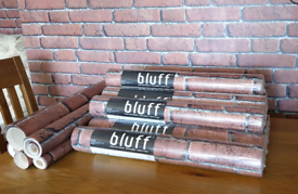 Bluff brick effect wallpaper rolls x 8 plus off cuts