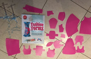 KLUTZ Fashion forms craft book and accessories