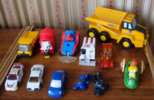 Assortment of cars and trucks