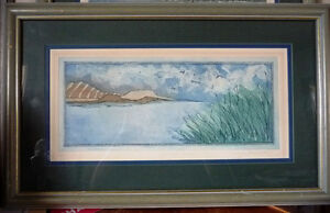 "Original Etching by Jennifer Berringer, ""Summer Storm"" 1980's"