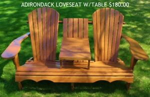 Wooden Adirondack Chairs & Picnic Tables