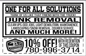 Affordable Junk Removal and Moving - Same Day - 10% Off Coupon Edmonton Edmonton Area image 2