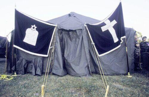 1985 US Military Jewish Service Field Flag Chapel Chaplain 4 x 5