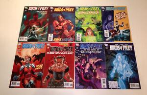 Birds of Prey comic book collection 8 comics #113-120