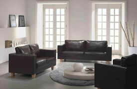 **FREE LONDON DELIVERY** BRAND NEW GERMAN QUALITY PU LEATHER BOX SOFA 3+2 -SAME DAY