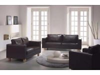 NEW PU LEATHER 3+2 BOX SOFA JUST £219 **SAME DAY LONDON DELIVERY