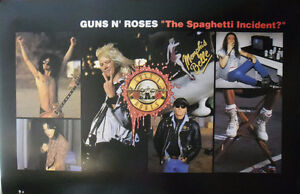 """GUNS N' ROSES """"The Spaghetti Incident?"""" 1993 Promotional Poster"""
