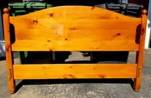 Queen Size Solid Pine Headboard and Footboard