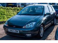 2002 FORD FOCUS 1.6 ZETEC 5 DOOR AIR CONDITIONING CD RADIO ALLOYS FOGS HATCHBACK