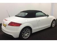 White AUDI TTS ROADSTER CONVERTIBLE 2.0 TFS1 Petrol QUATTRO FROM £67 PER WEEK