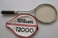 WILSON T-2000 AND VINTAGE WOOD TENNIS RACKETS