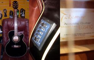 AUBAINE Guitare électro acoustique usagée TAKAMINE EG541C black