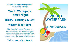 World Waterpark Family Night - Tickets Going Fast
