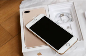 Unlocked 128GB gold IPhone 7 plus