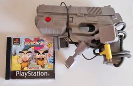 POINT BLANK 3 + G CON GUN - PLAYSTATION 1.