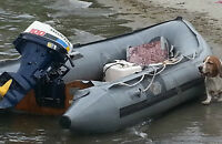 zodiac style inflatable boat with 10 hp honda motor