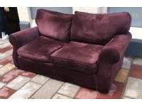 Old Purple 2 Seater Sofa / can Deliver