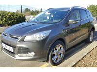 FORD KUGA TITANIUM GRAY 2.0TDCi MANUAL DIESEL MPV 150ps 2015 65 PLATE WITH NAV