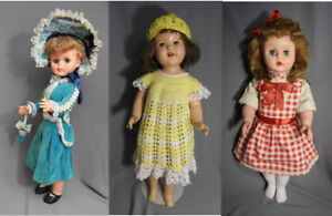 EARLY VINTAGE DOLLS. CANADA, USA.