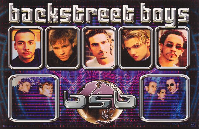 LOT OF 2 POSTERS: MUSIC : BACKSTREET BOYS - WORLD - FREE SHIP #7568   LC23 H