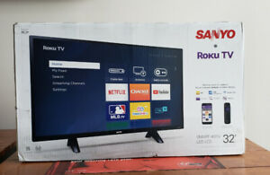 BRAND NEW SANYO 32-INCH 720P ROKU SMART LED LCD TV​
