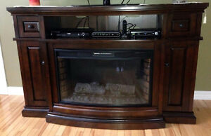 Well Maintained Electric Fireplace/TV Stand