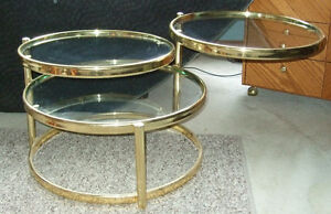 Decorative Articulate matching coffee and side tables Strathcona County Edmonton Area image 4