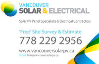 Free Solar PV Panel Quote-Supplied & Installed service-BC Canada