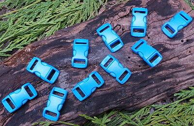10 X 10mm 1cm Blau Konturiert Schnelle Entriegelung Paracord Survival Armband Survival Armband Blau