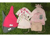8 baby girl hats!