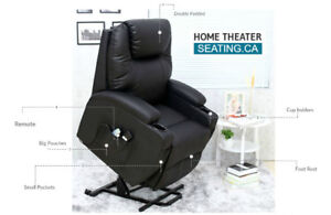 ELECTRIC LIFT & RECLINE CHAIR WITH MASSAGE , HEAT, NO TAX