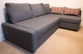 As new Grey corner sofa bed with storage