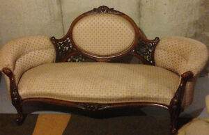 Victorian hand carved settee for sale