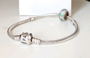 PANDORA Sterling Silver Barrel Clasp (7.1in/18cm) with Charm!