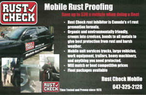 Rust Proofing - Mobile Unit- We come to you