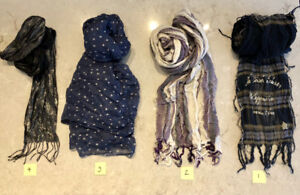 A HUGE SELECTION OF DESIGNER UNISEX SCARVES! LIKE NEW CONDITION