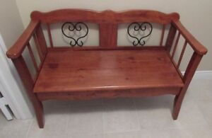 FRONT ENTRANCE WOODEN BENCH