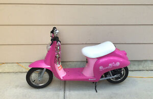 It's more than a toy. It's an electric motorbike for girls.