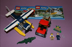 Lego City 60070 Police Water Plane Chase Crocodile