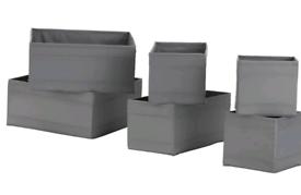 Ikea Skubb storage box (6 grey) NEW