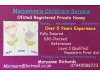 Nanny available